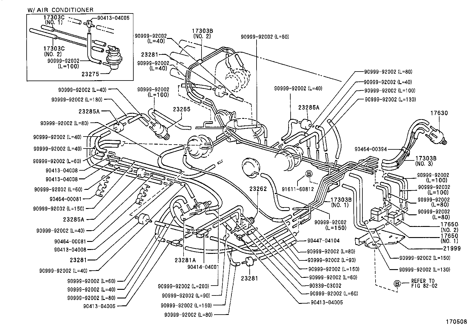 Toyota engine vacuum parts
