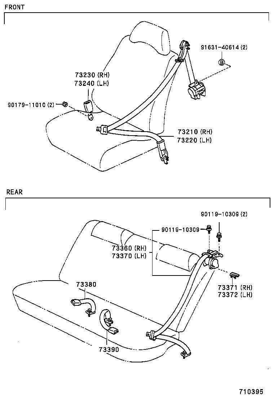 medium resolution of corolla seat belt child restraint seat