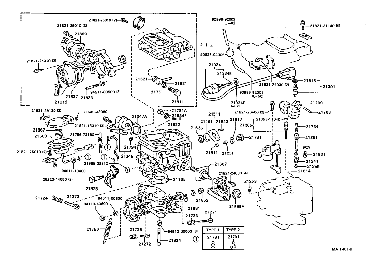engine diagram corolla 1995