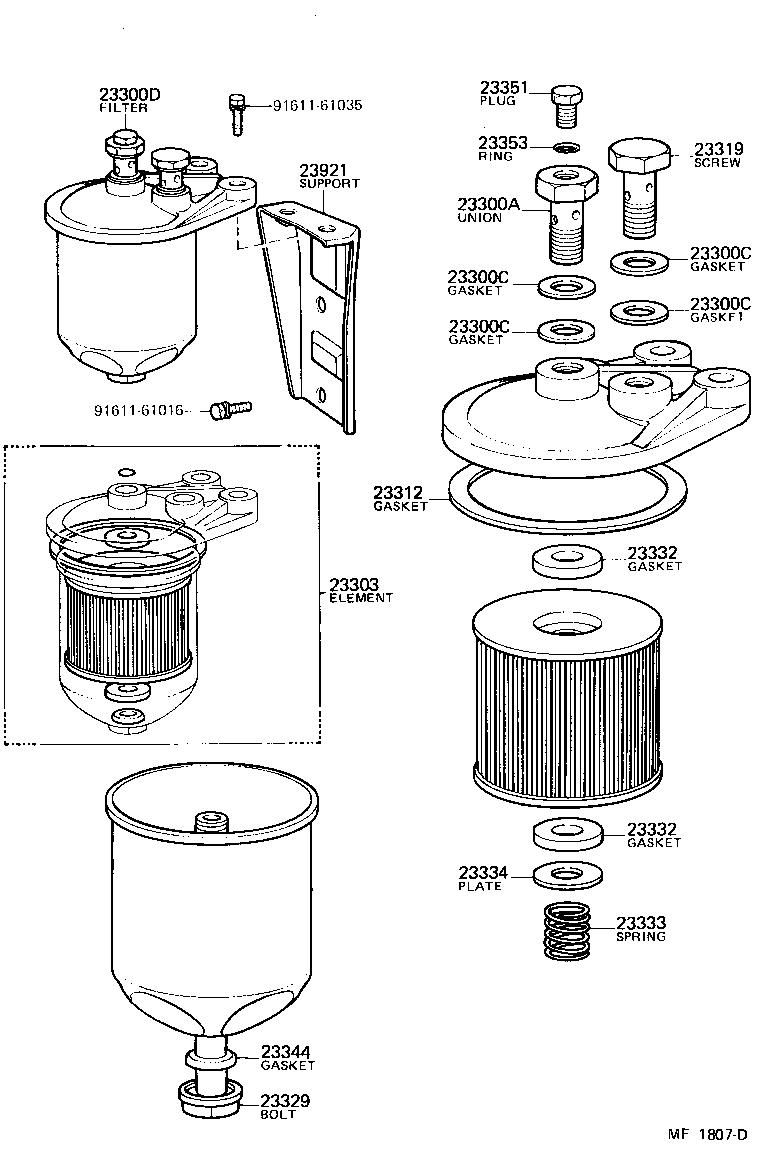heavy duty fuel filter