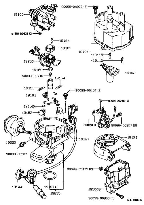 small resolution of corolla distributor