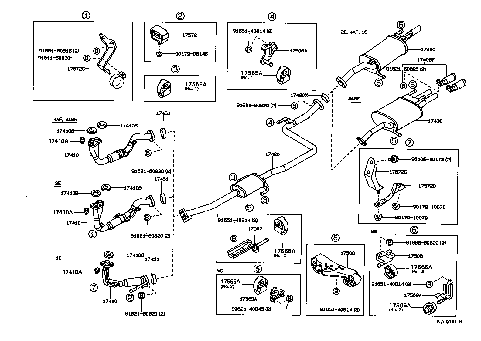 1999 toyota camry exhaust system diagram 2006 saturn vue parts 0f 1993 corolla