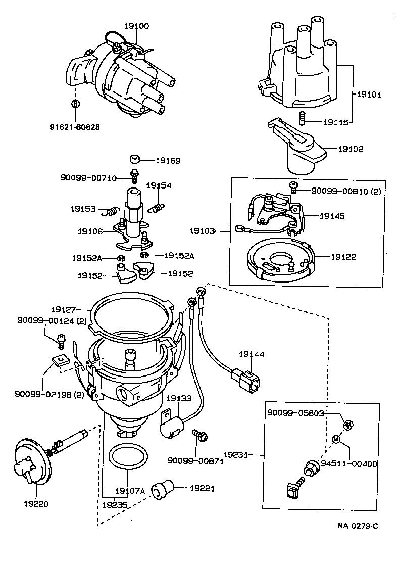 1993 Toyota Corolla Distributor Diagram. Toyota. Auto