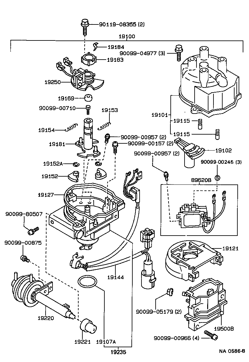 1995 Toyotum Corolla Transmission Part Diagram