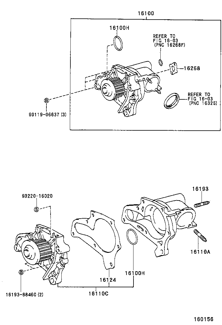 medium resolution of harrier water pump