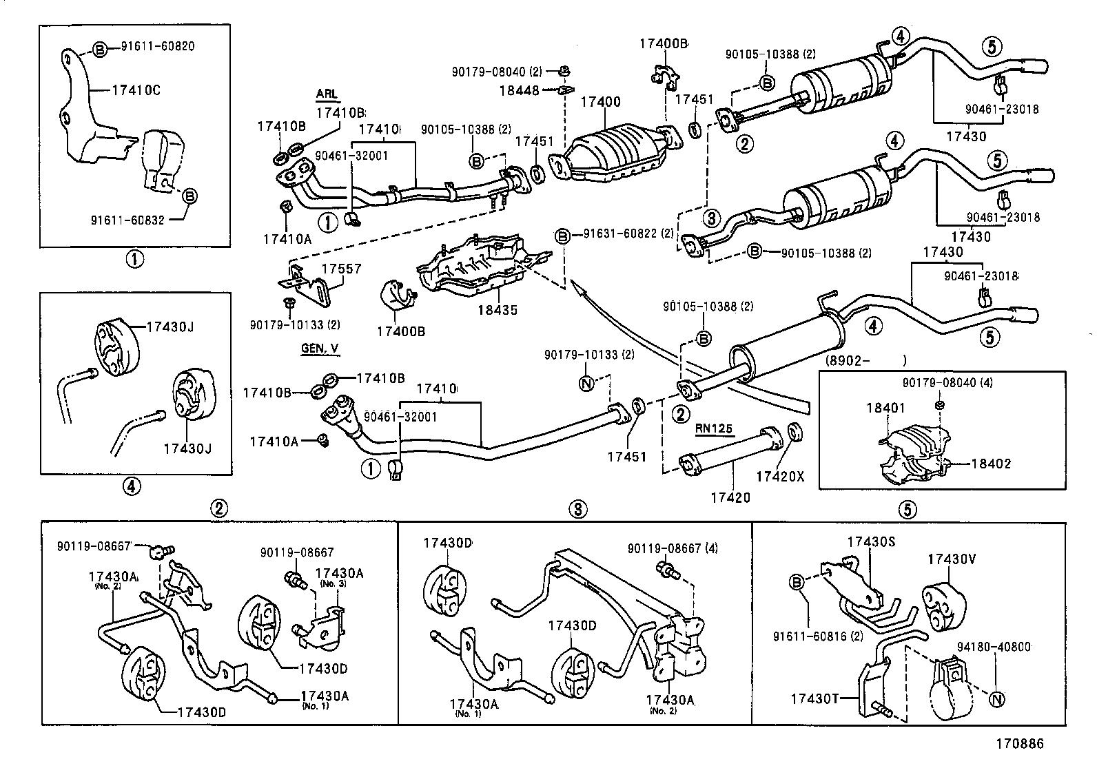 toyota rav4 exhaust system diagram wiring dual element hot water heater 4 runner truckrn85l trmssv tool engine fuel