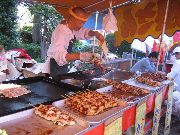 yakitori at the festival