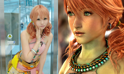 Cosplay vanille Final fantasy XIII