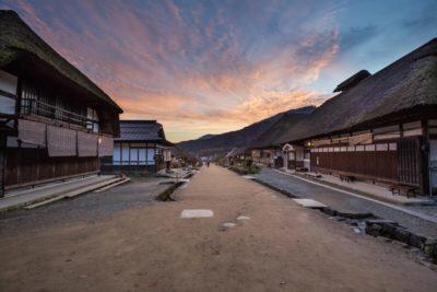 Typical landscape of Ouchijuku village in Fukushima, Japan