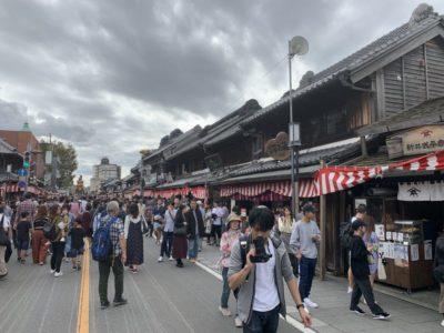 Traditional Kawagoe town street in Saitama, Japan