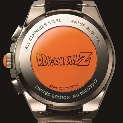 Back of the Dragon Ball watch