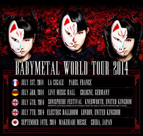 baby metal tour dates
