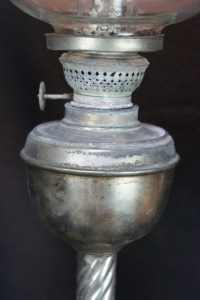 Antique Japanese oil lamp 1900 Japan hand made glass craft ...
