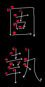 Kanji Stroke order for 固執