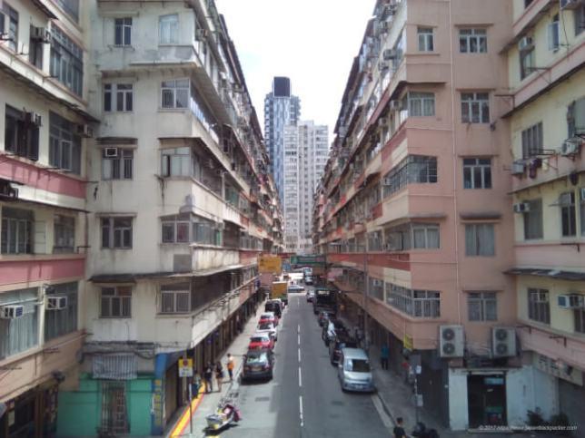 香港ホンハム駅近くの街