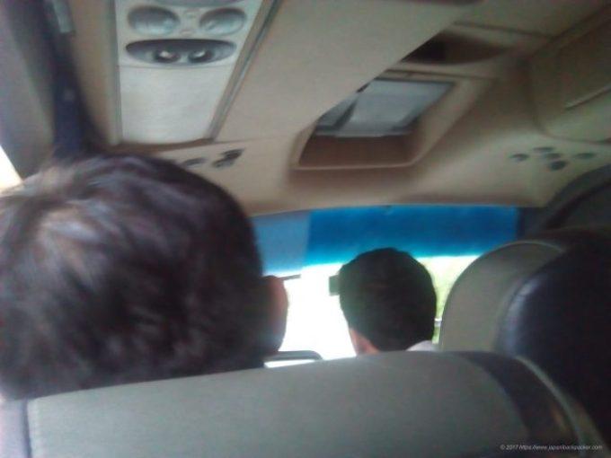 広州行きのバス車内