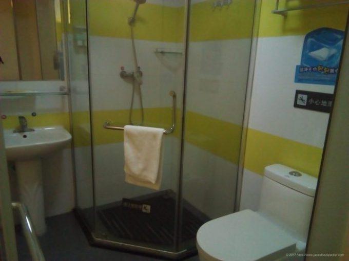 広州7 デイズ イン のシャワー