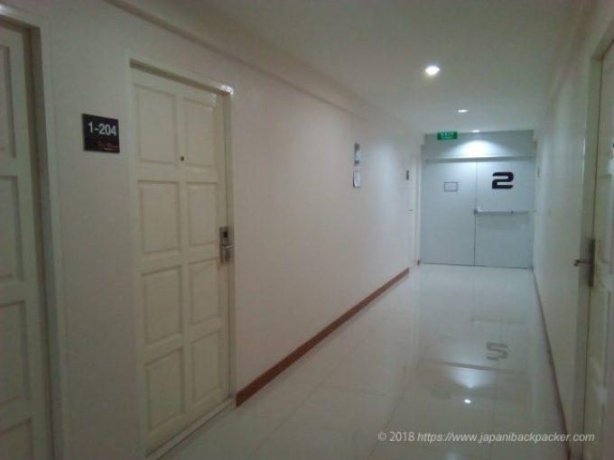 ドンムアンホテルの廊下