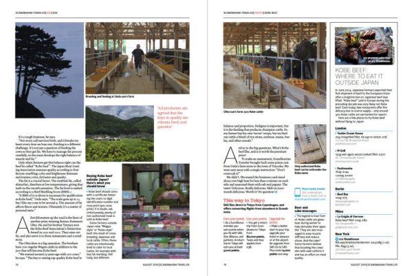 SAS Airlines story on Kobe Beef shot by Alfie Goodrich