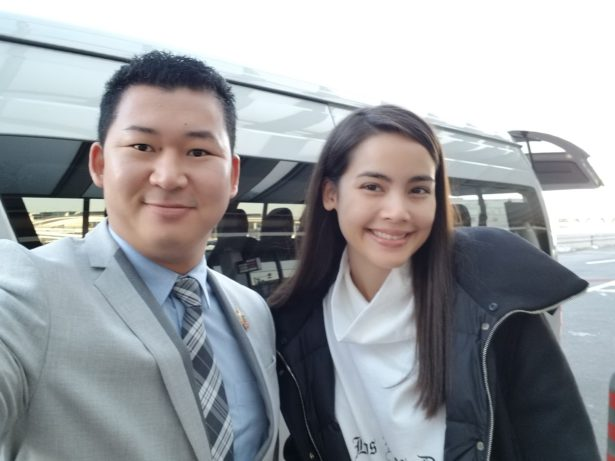 Yaya with Japan Royal Service
