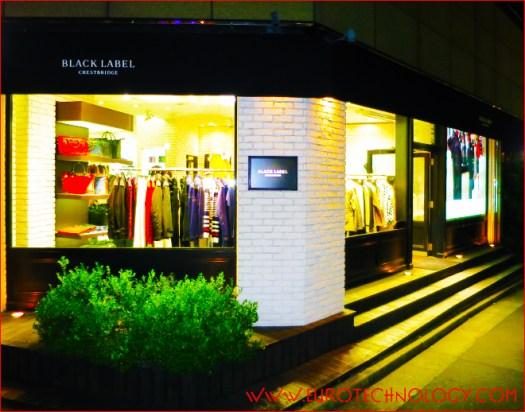 Black Label Crestbridge flagship store in Tokyo-Harajuku