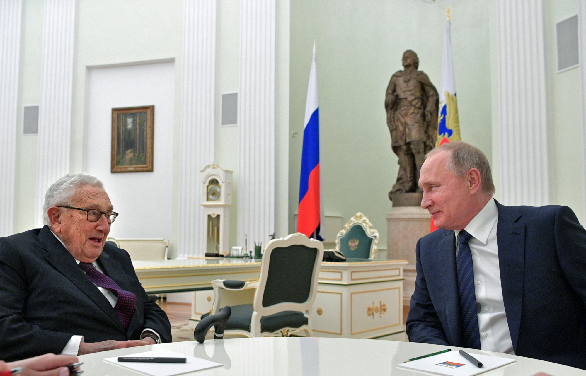 Image result for henry kissinger meets with putin in moscow