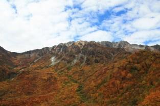 Mt Tateyama @3000m+ viewed from Kurobe-daira @1800m