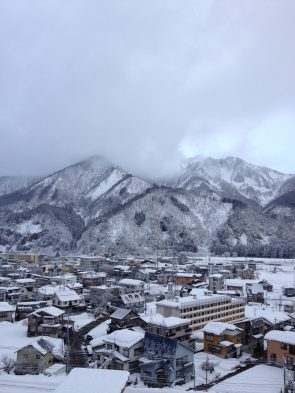 view of Yuzawa town from hotel