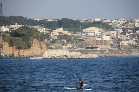 surfers can often be seen along the Shonan coastline