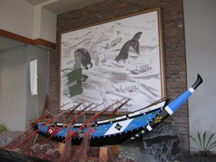 model of whaling boat