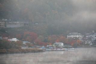 Morning mists on lake