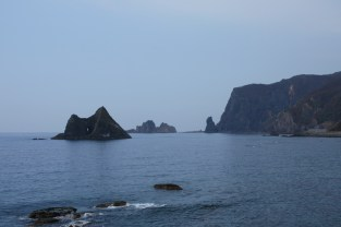 coastline while heading north to Cape Kamui