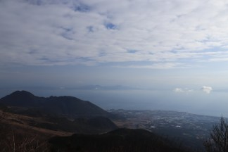 overlooking Kumamoto coastline in the distance