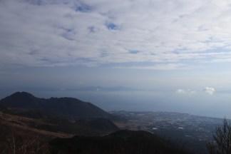 overlooking Kumamoto coastline in the distance