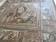 large mosaic on floor