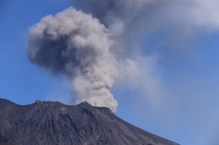 eruptions from the southern crater