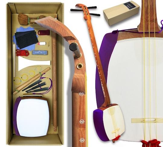 diy self assembly shamisen kit build customize own