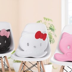 Posture Support Seat Cushion Slipcover For Chair And Ottoman Style Hello Kitty Back Japan Trend Shop