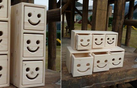 Nicot Wood Drawers Set  Japan Trend Shop