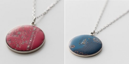 The Price Of The Round Circuitboard Necklace Is 995