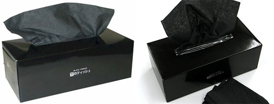 black tissues