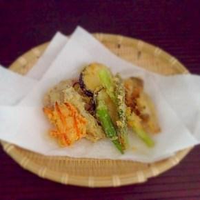 Tempura de légumes avec farine de riz 米粉のてんぷら