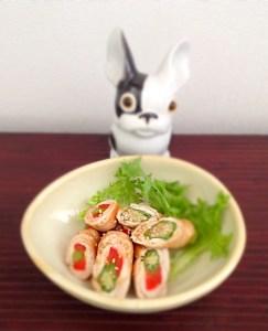 maki aux légumes et à la viande