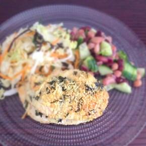 Blancs de poulet grillés au shiso 鶏の紫蘇チーズ焼き