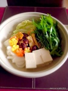 nabe de légume au mizuna