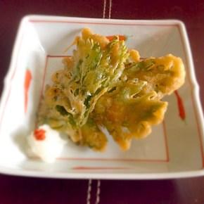 Tempura de feuilles de céleris セロリの葉の天ぷら