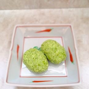 Zunda mochi mochi aux graines de soja ずんだ餅