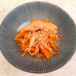 Nimono de radis blanc séché 切り干し大根の煮物