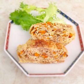 omelette au nimono de radis blancs séchés 切り干し大根入りの卵焼き