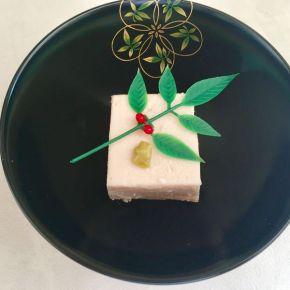Tofu de sésame au kuzu 胡麻豆腐